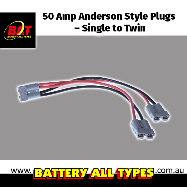 50 Amp Anderson Style Plugs – Single to Twin